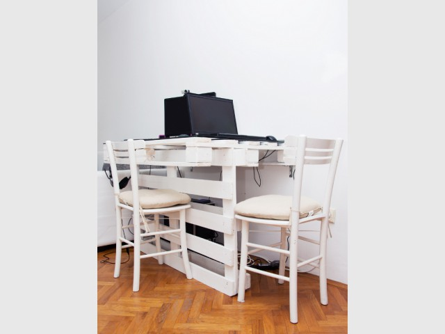 Petit bureau palette