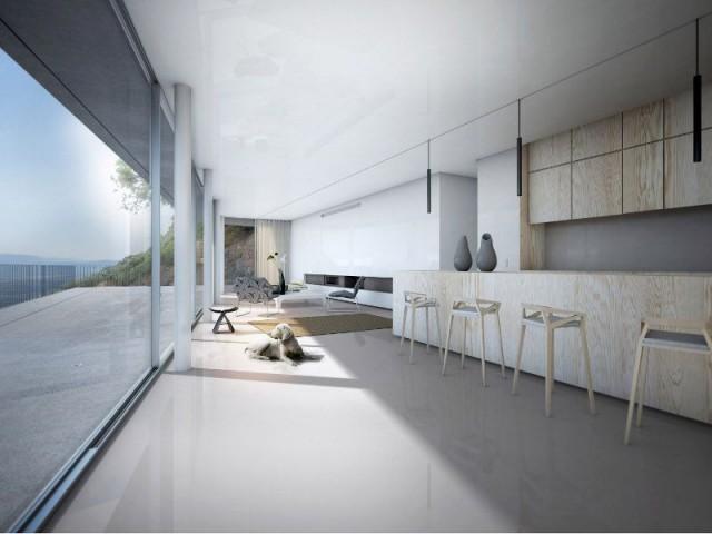 Une villa d'architecte perchée sur la colline d'Hyères : Intérieur bois - Une villa d'architecte perchée sur la colline d'Hyères