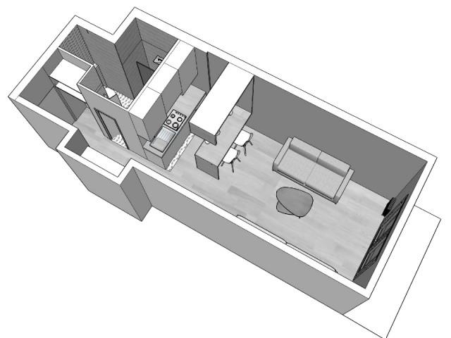 Plan après rénovation