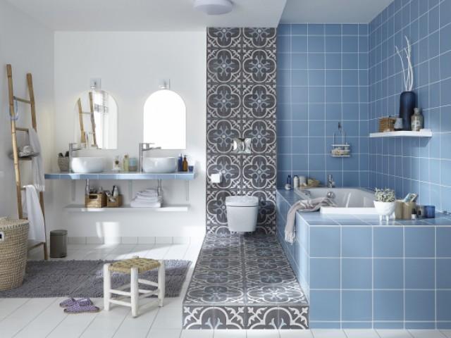 salle de bains bleue 10 inspirations. Black Bedroom Furniture Sets. Home Design Ideas