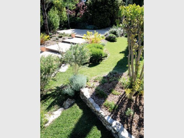 Différents niveaux de jardin