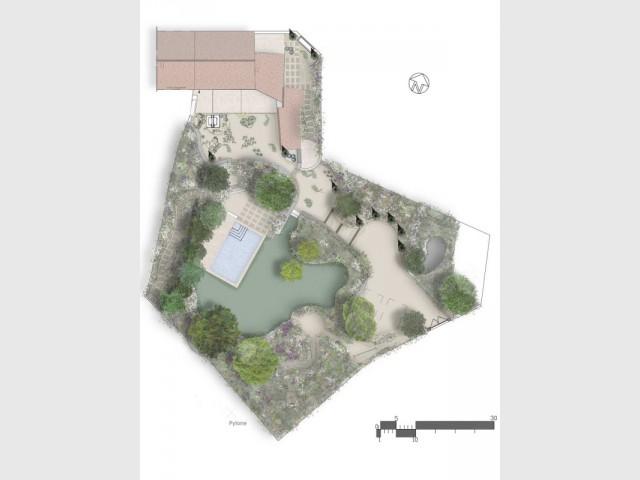 Plan du jardin provençal