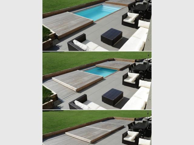 Une terrasse mobile qui s'ouvre en deux