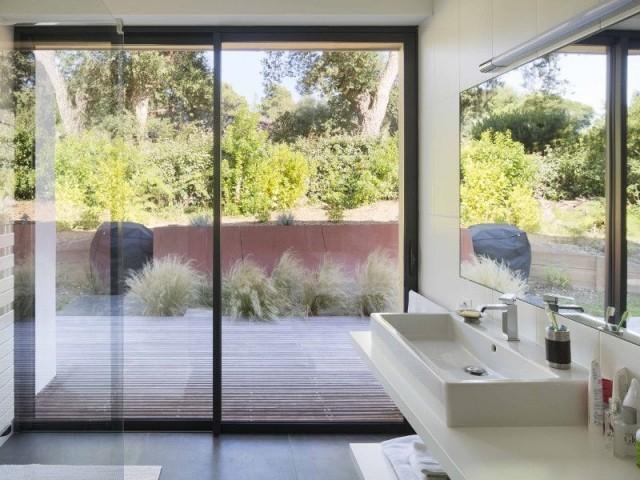 Villa Landaise avec piscine : larges ouvertures - Villa Landaise