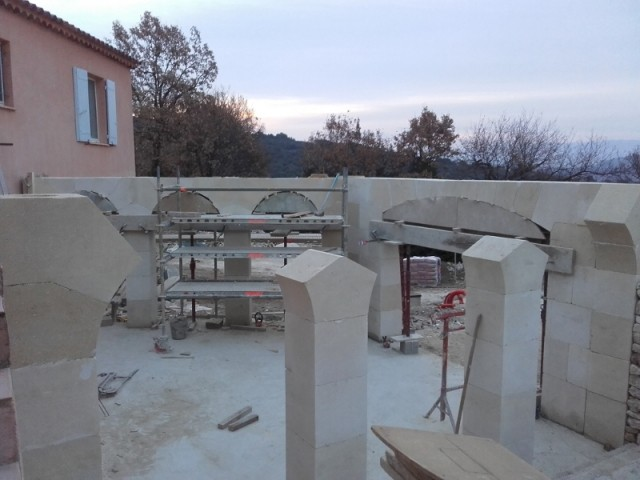 Création d'arches et pierre de taille