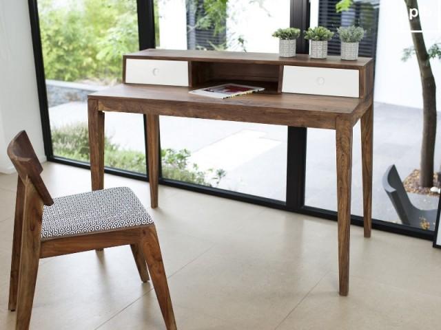 Élégant meuble en bois brut bureau bois massif frais meuble bois