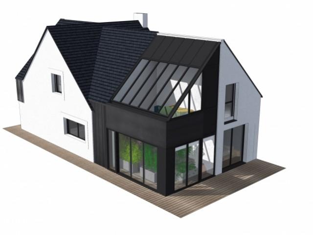 extension verri re pour petite maison bretonne. Black Bedroom Furniture Sets. Home Design Ideas