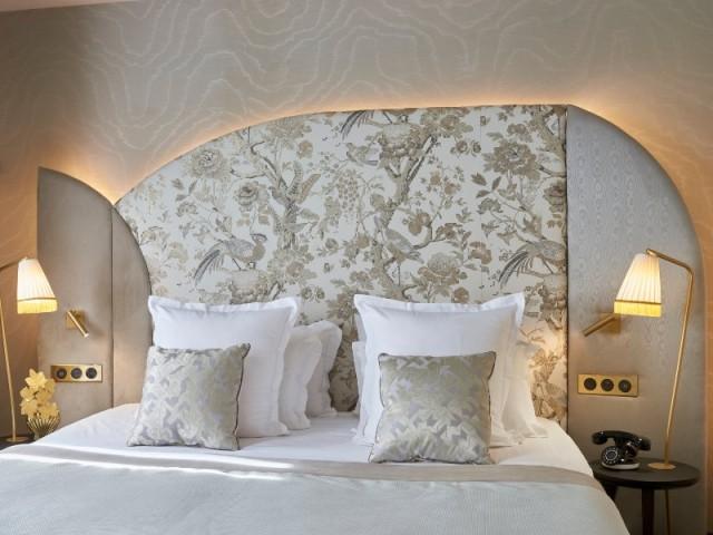 L'une des chambres Nacre de l'hôtel Maison Nabis Paris