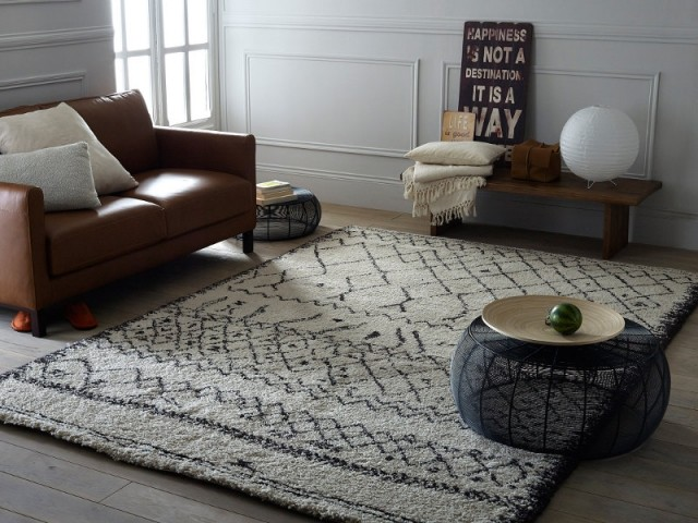 Un tapis chic et élégant pour mon salon