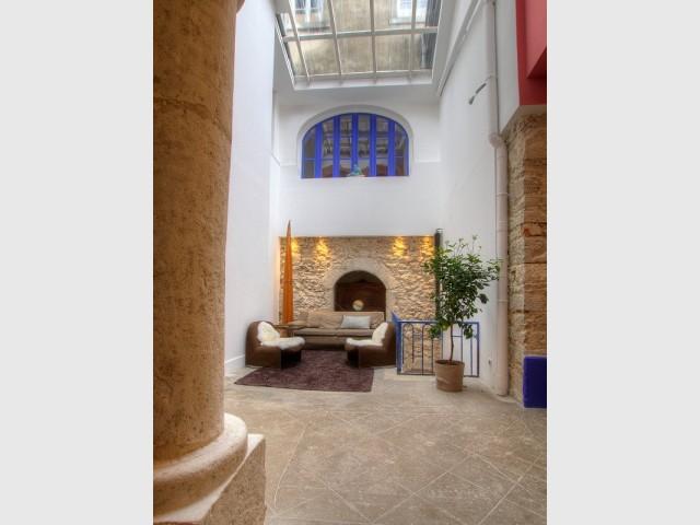 L'espace d'accueil de la Maison d'Ambronay