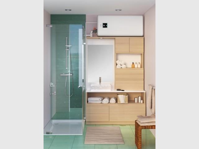 Un chauffe-eau caché... dans une salle de bains