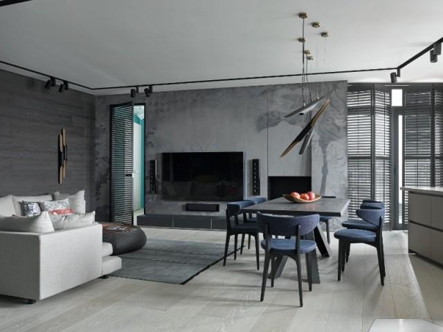 Des murs gris qui apportent du relief
