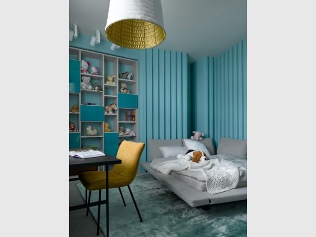 Espace confortable pour une chambre d'enfant lumineuse