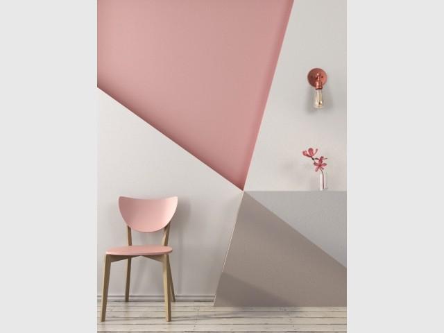 Peinture des triangles sur mon mur for Peinture triangle chambre
