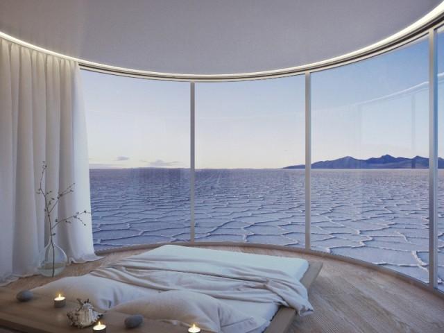 Une maison coquille avec double vue panoramique