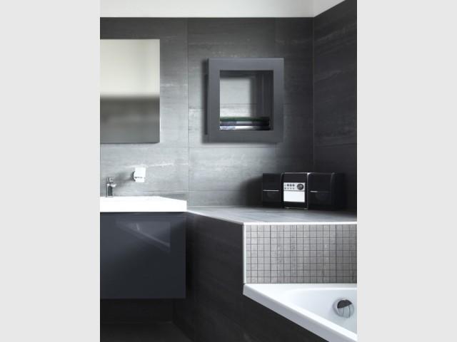 Une niche design en guise de sèche-serviette