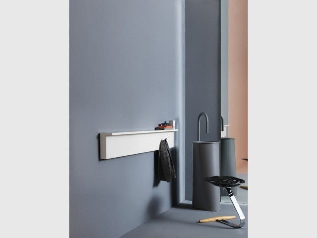 Un radiateur qui prend la forme d'une étagère