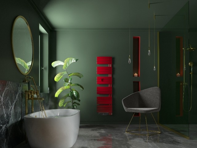 Radiateur sèche serviette Nefertiti rouge