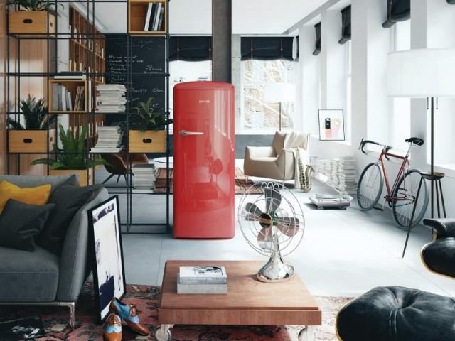 Un réfrigérateur aux couleurs acidulées