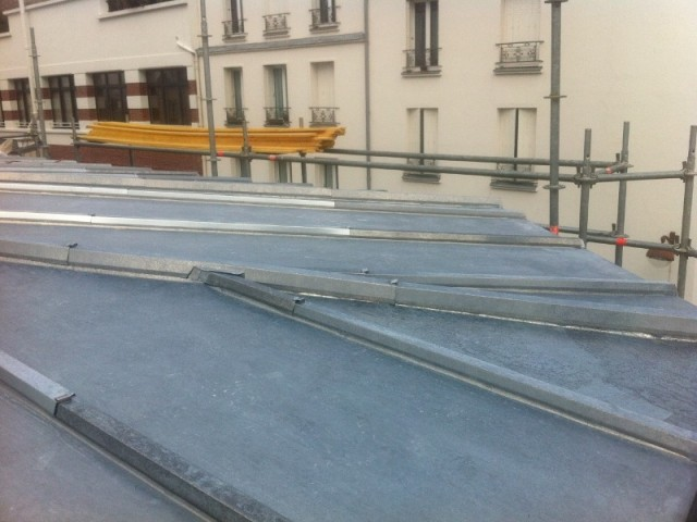 Couverture zinc pour cet appartement parisien