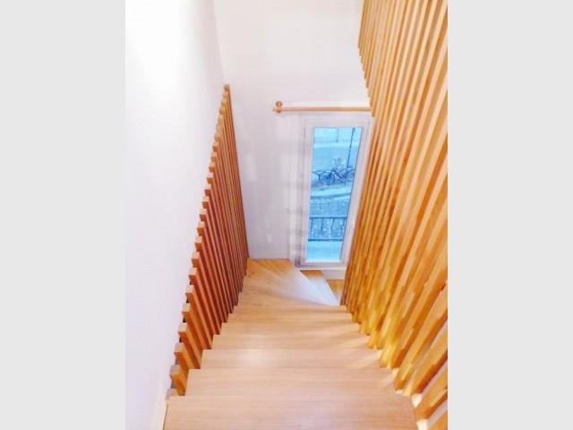 Un escalier où le bois est roi