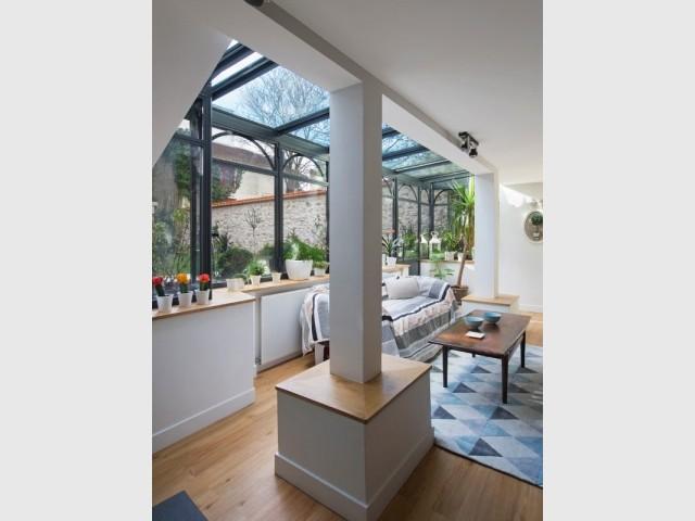La verrière en façade permet de gagner 8 m2