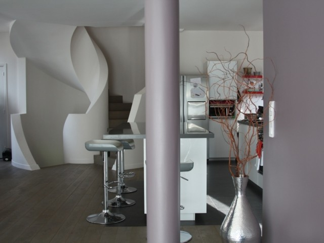 Un escalier imitation voûte sarrasine