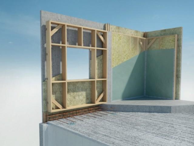 Eléments préfabriqués bois/béton pour façade