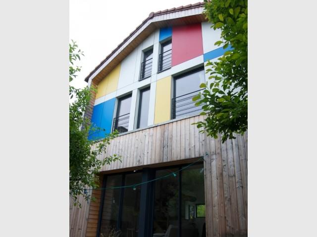 La façade sud est un clin d'œil à Mondrian