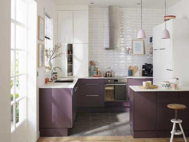 Opter pour des meubles de cuisine violets