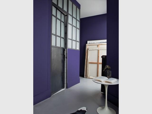 Habiller de violet un couloir pour le dynamiser