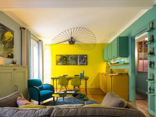 Un séjour optimisé, plus lumineux et plus coloré