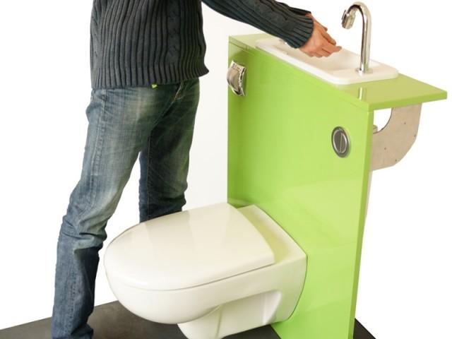 Des WC lave-mains aux couleurs tendance