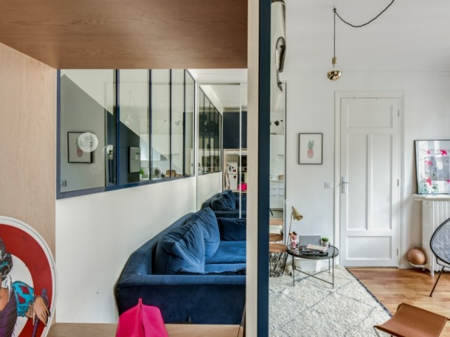 Plusieurs niches marquent l'appartement