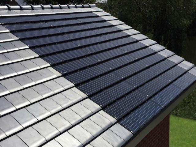 Tuiles photovoltaïques intégrées