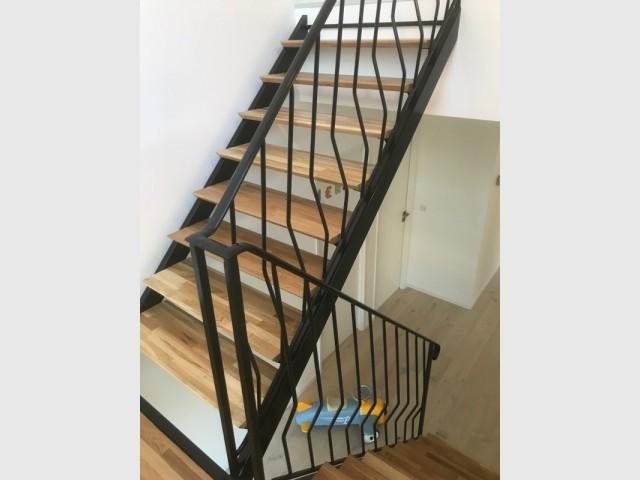 Un escalier aérien réalisé sur-mesure