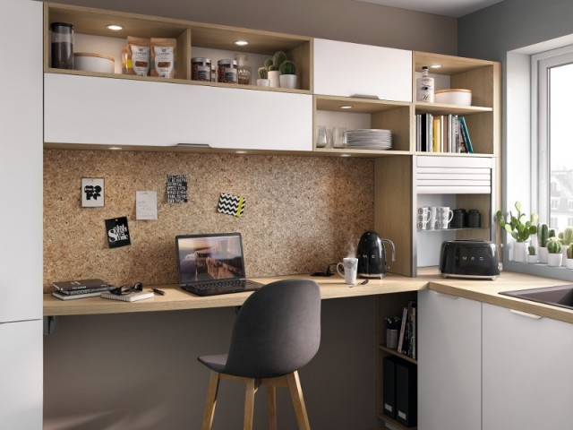 Une niche en bois... pour un bureau