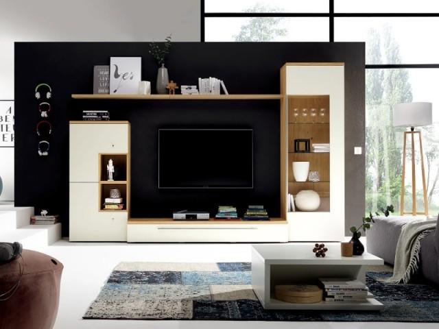 Des niches en bois... pour un meuble T.V