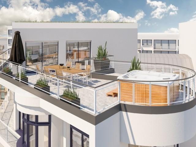 Une terrasse de 40 m2 avec un spa
