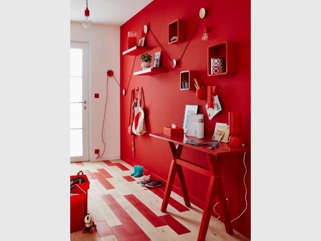 Peinture rouge rouge 3 Luxens Couleurs intérieures satin