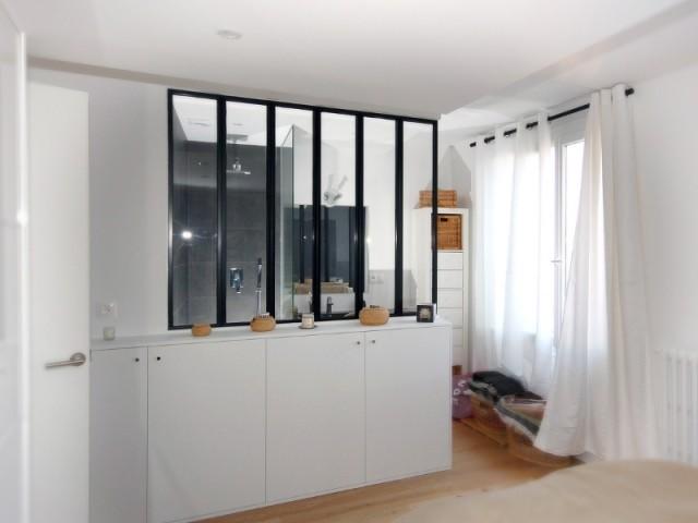 Chambre transformée en suite parentale