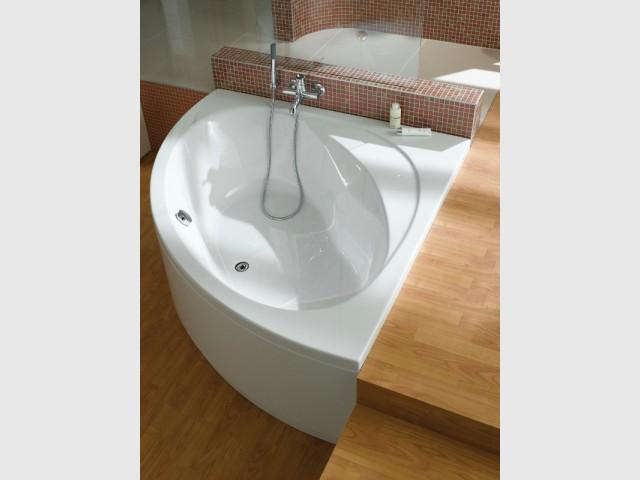 Une baignoire semi-enterrée