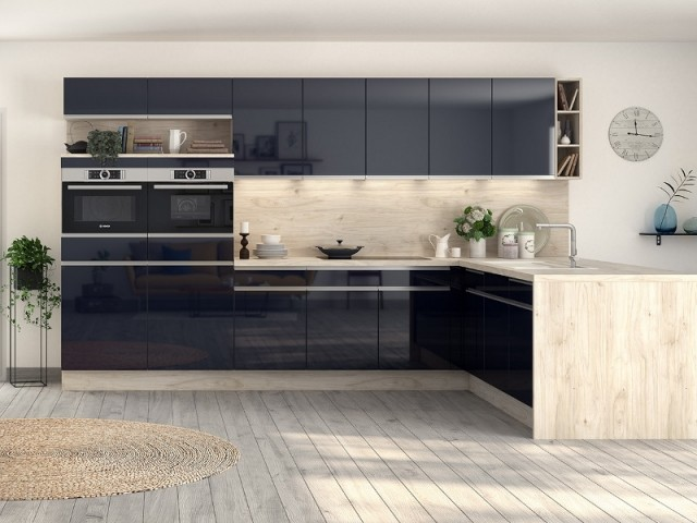 cuisine bleu nuit amazing cuisine bleu nuit with cuisine. Black Bedroom Furniture Sets. Home Design Ideas
