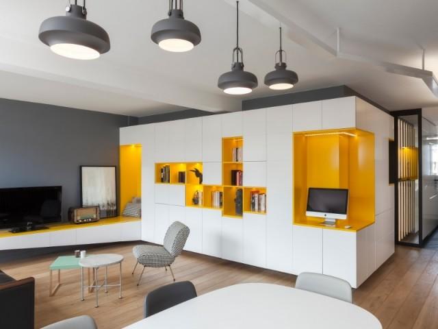 Une meuble sur-mesure pour restructure un appartement parisien