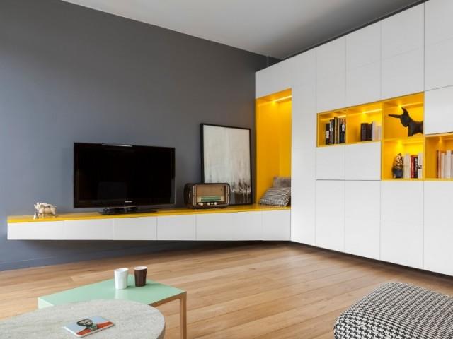 Une meuble sur-mesure qui se transforme en espace détente