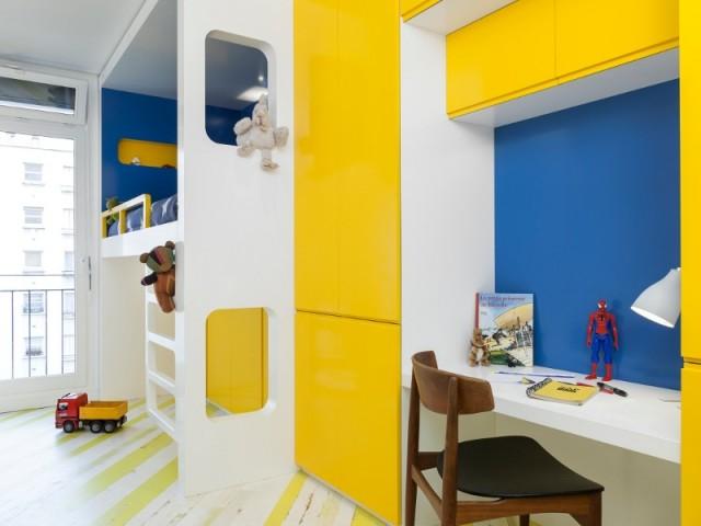 Une chambre d'enfant colorée et moderne