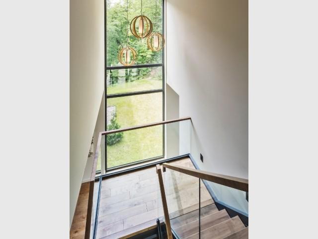 L'escalier donne sur l'extérieur