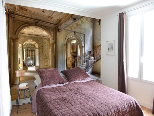 papier peint poster et panoramique 10 exemples pour s. Black Bedroom Furniture Sets. Home Design Ideas