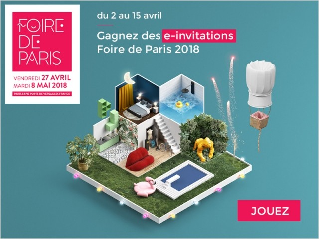 jeu concours gagnez des invitations pour la foire de paris 2018. Black Bedroom Furniture Sets. Home Design Ideas