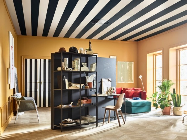 peindre son plafond osez la couleur 10 photos inspirantes. Black Bedroom Furniture Sets. Home Design Ideas